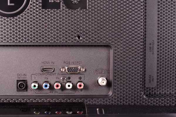 The ports on the back of the LG 29LB4510