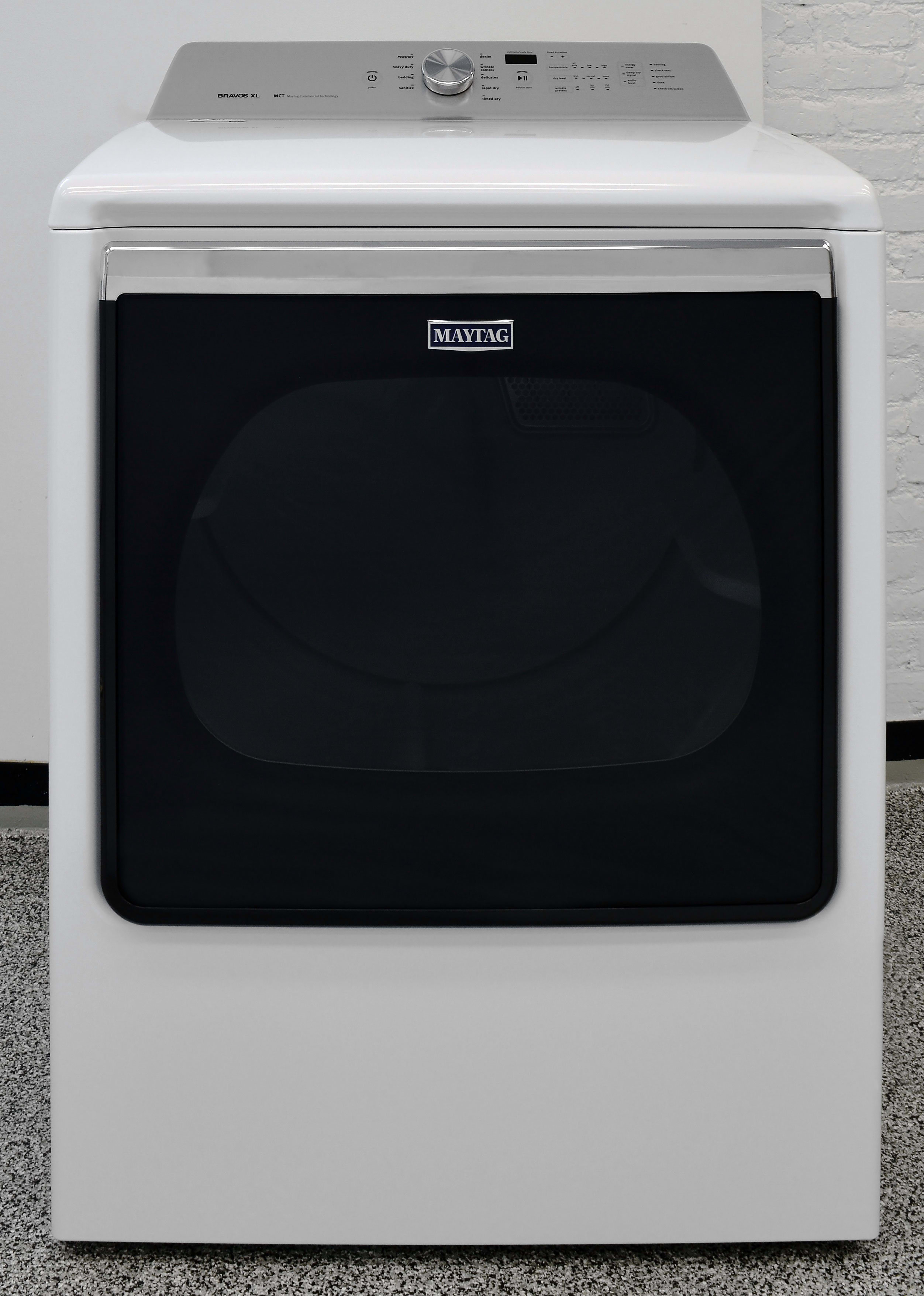 The 8.8-cu.-ft. Maytag Bravos MEDB835DW is a versatile and highly effective dryer.
