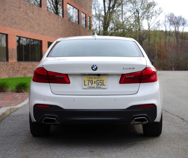 BMW 530i Rear View