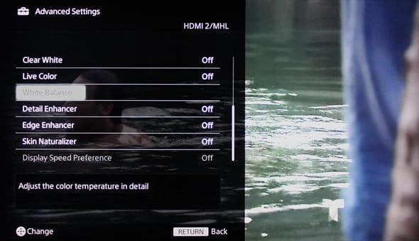 More advanced settings