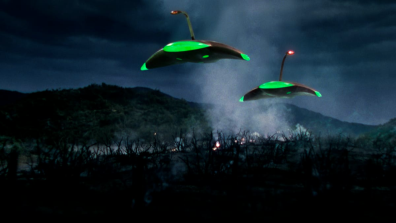 Martian war machines invade in 'The War of the Worlds.'