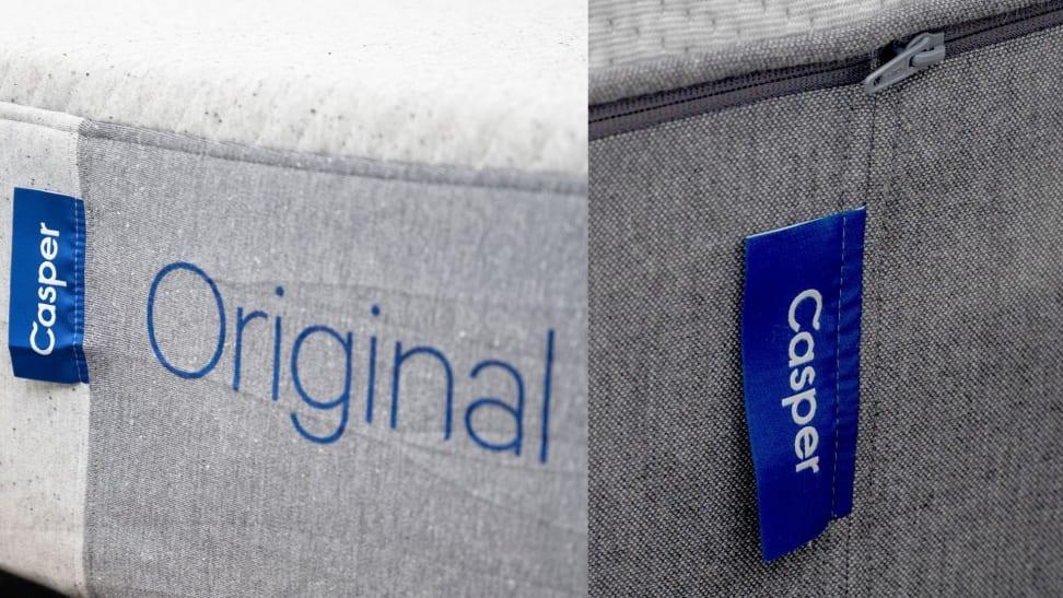 The Casper Original tag adjacent  to the Casper Select