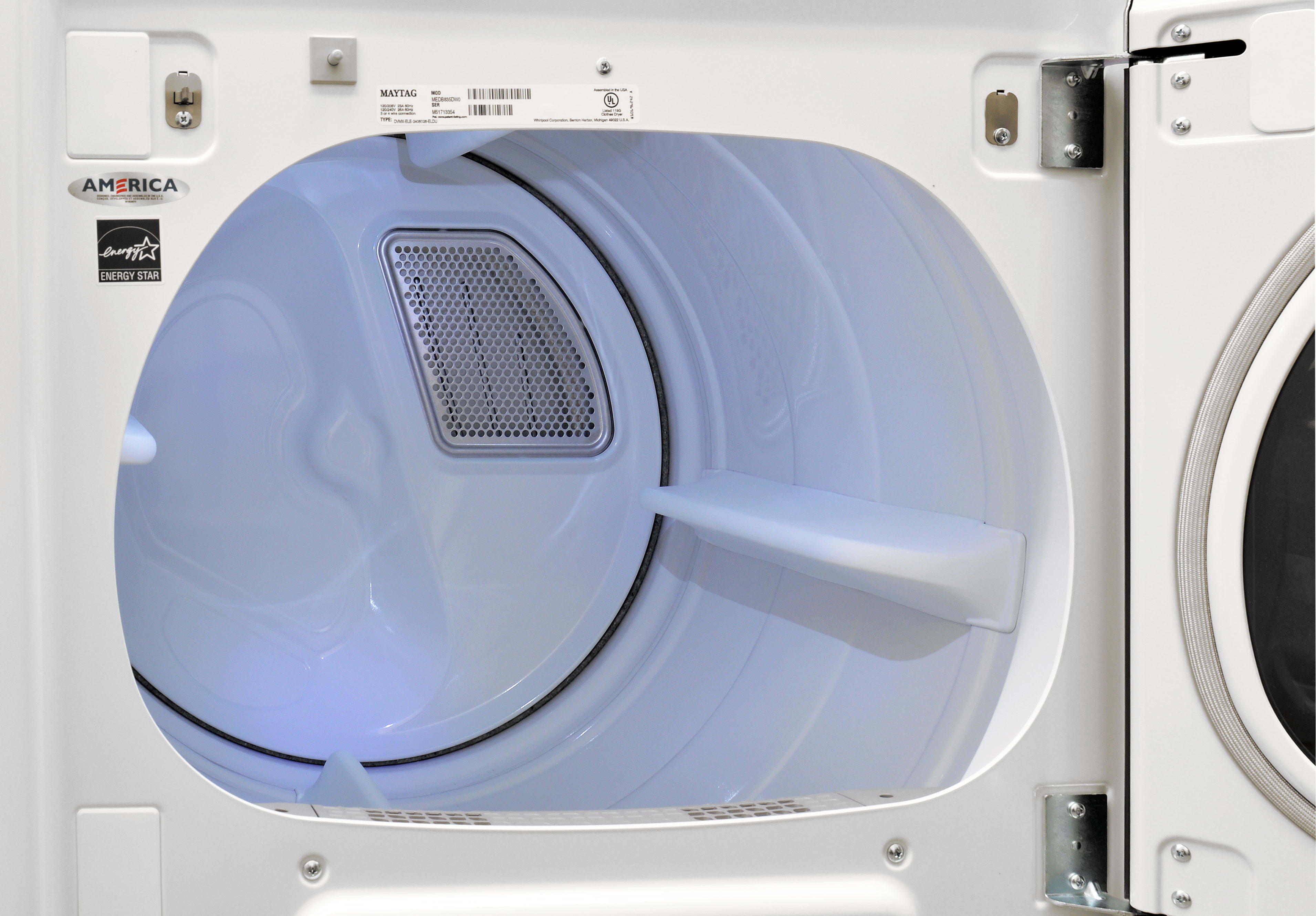 White drums are common in this price point, but the Maytag Bravos MGDB835DW's light is a nice inclusion.