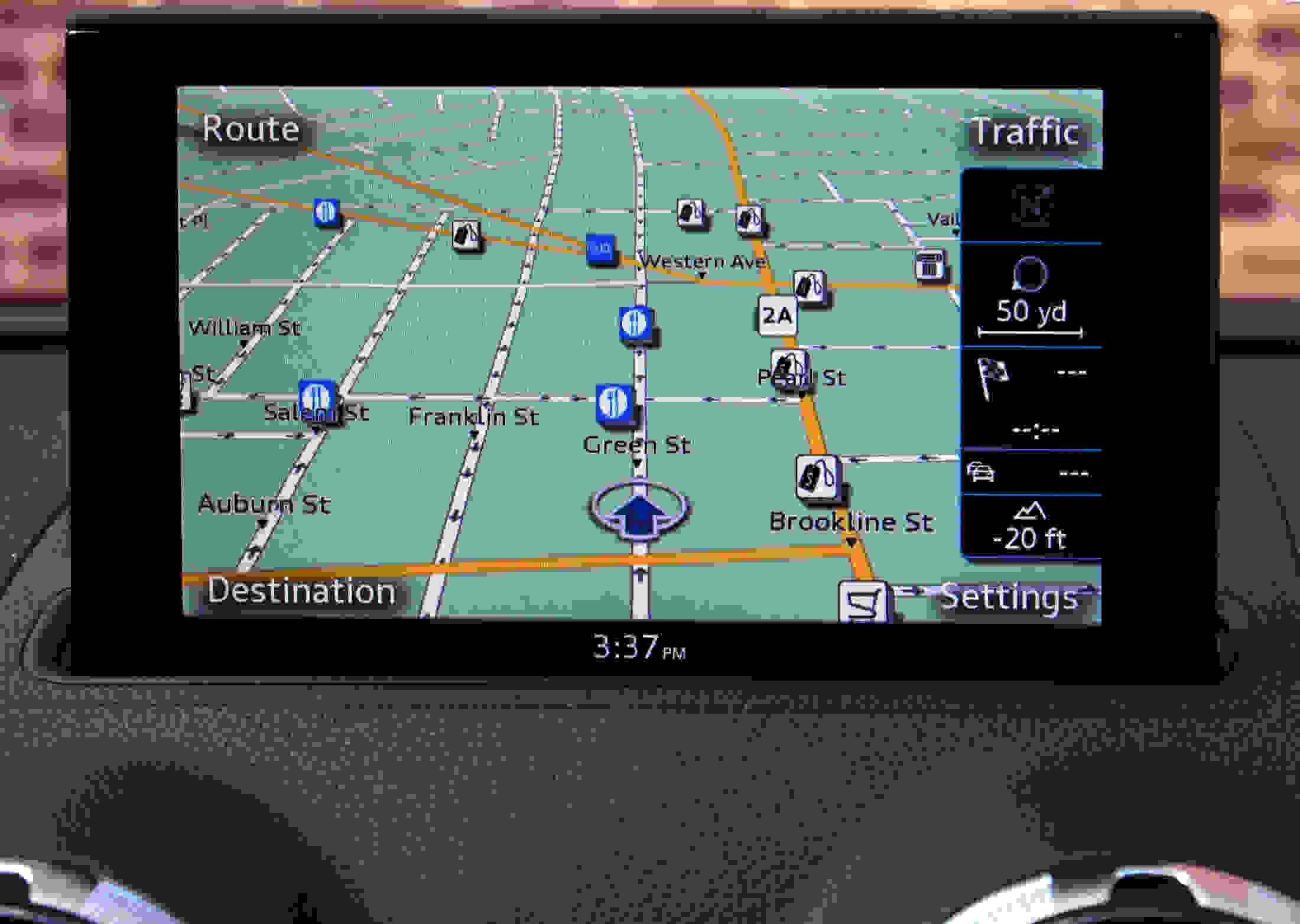 2015 Audi a3 nav screen