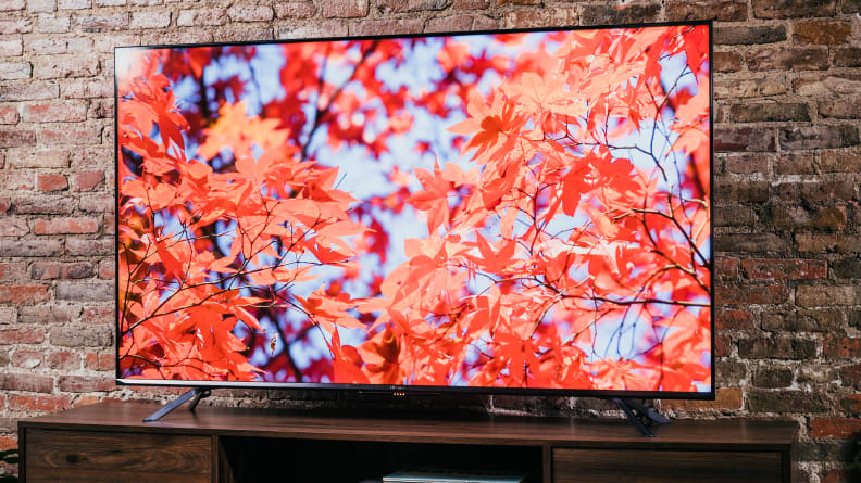 The Hisense U7G displaying 4K/HDR content in a living room setting