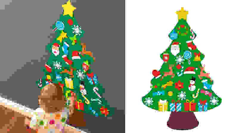 7. Jollylife Felt Christmas Tree Set