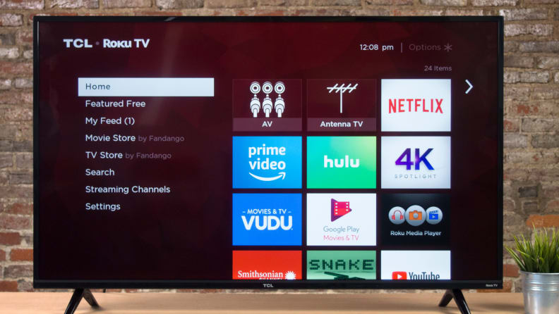 TCL 4-Series S425 Roku Platform Home Screen