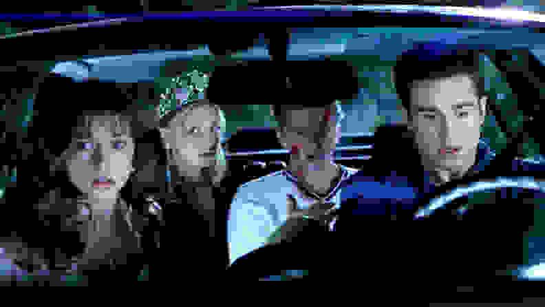 Sarah Michelle Gellar,  Jennifer Love Hewitt, Freddie Prinze Jr., and Ryan Philippe in a scene from