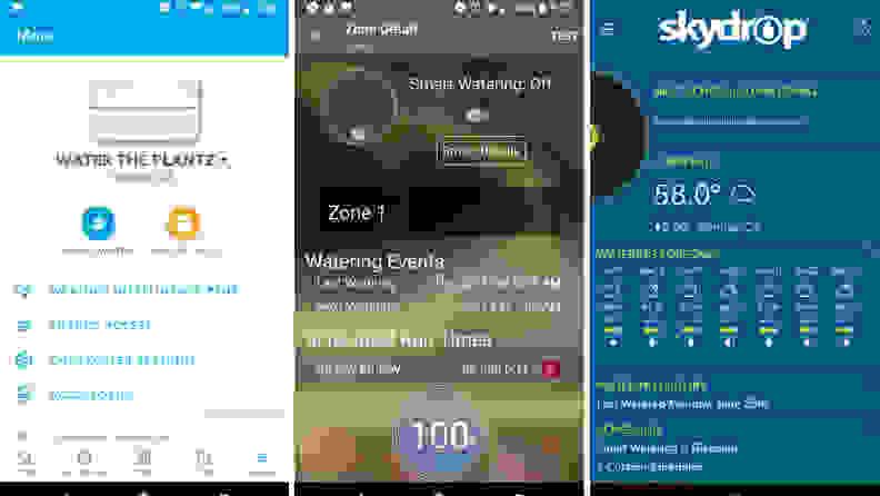Smart sprinkler controller app