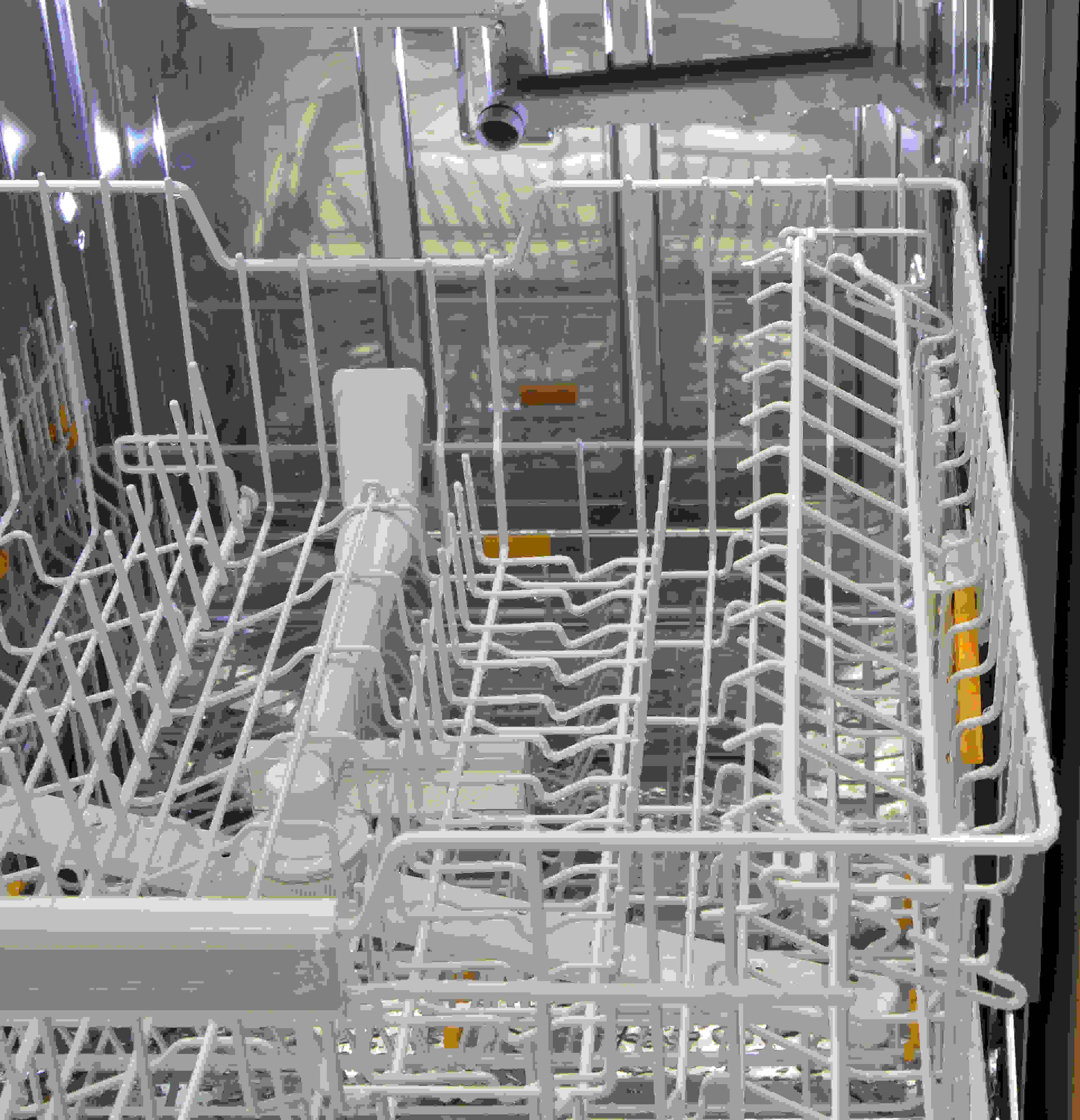 The other shelf on the upper rack with higher clearance
