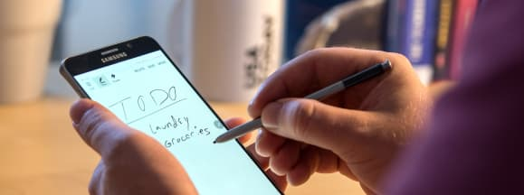 Samsung galaxy note 5 review writing
