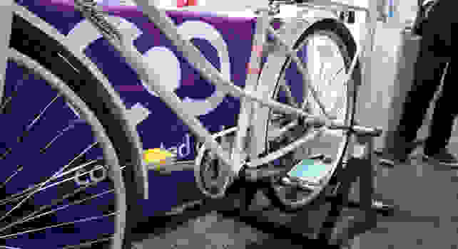 Smart Pedals on Bike