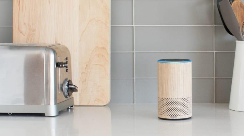 Amazon Echo kitchen counter