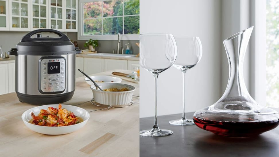 instant pot and wine decanter