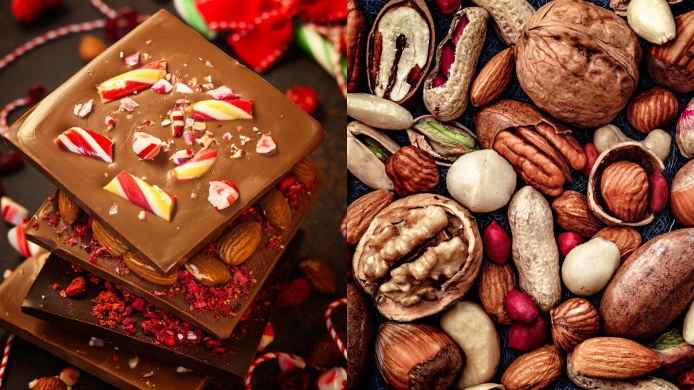 8 delicious homemade gift ideas you can ship in the mail, including peppermint barks, roasted nuts, and more.
