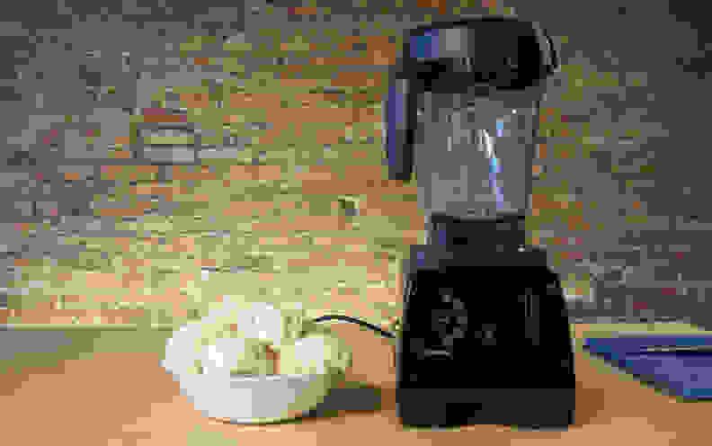 Cauliflower beside blender