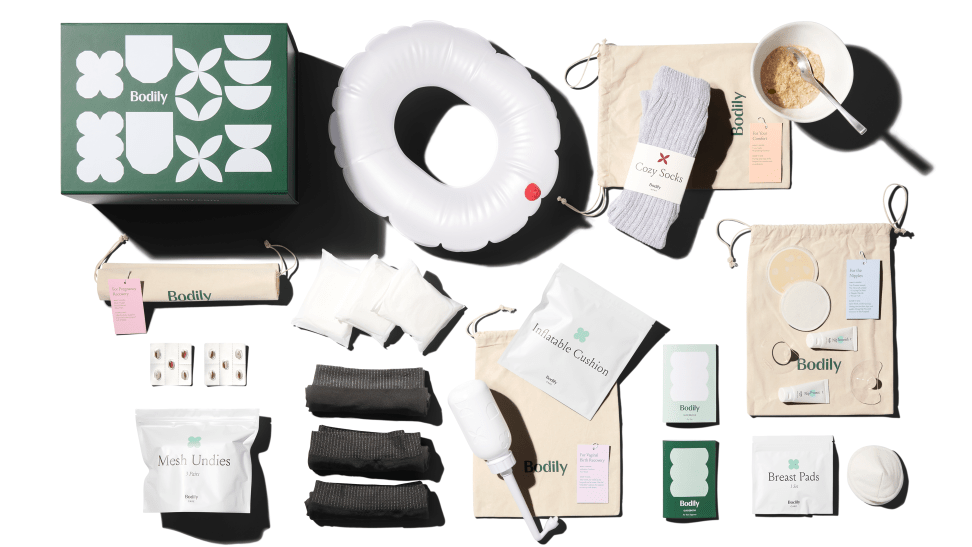 Bodily's postpartum care boxes include everything a new mom needs