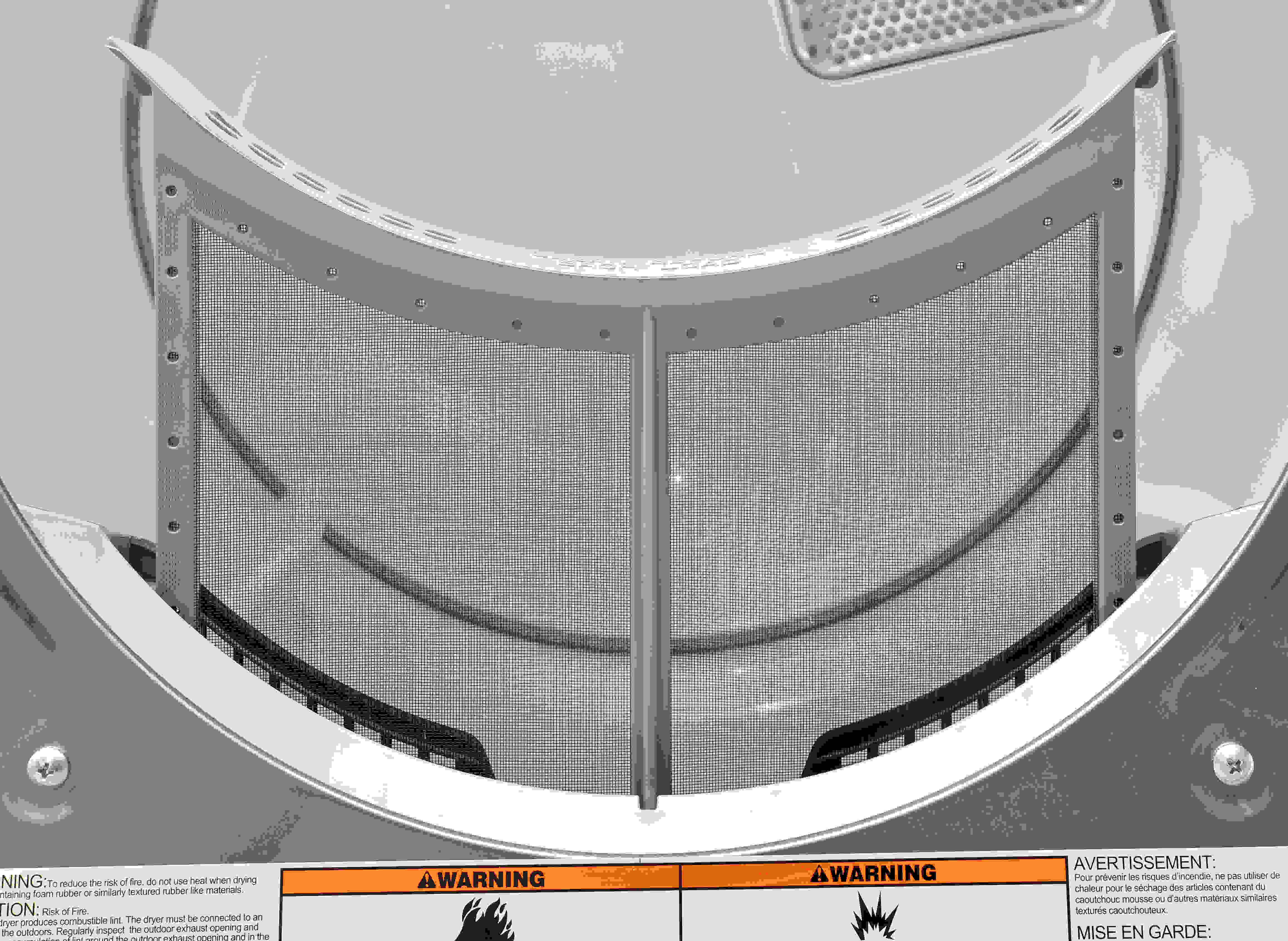 A conventional lint trap for the highly conventional Whirlpool 90HE series dryer.