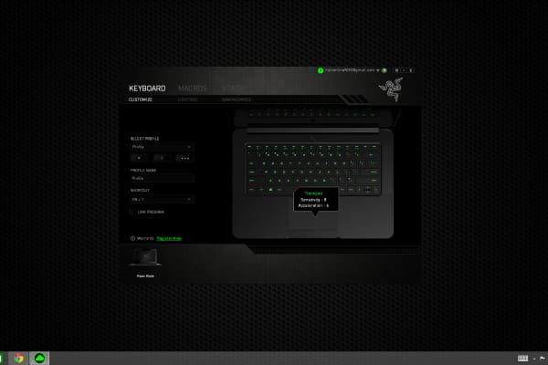Gamers can also use Synapse 2.0 to customize their keyboards to their heart's desire.
