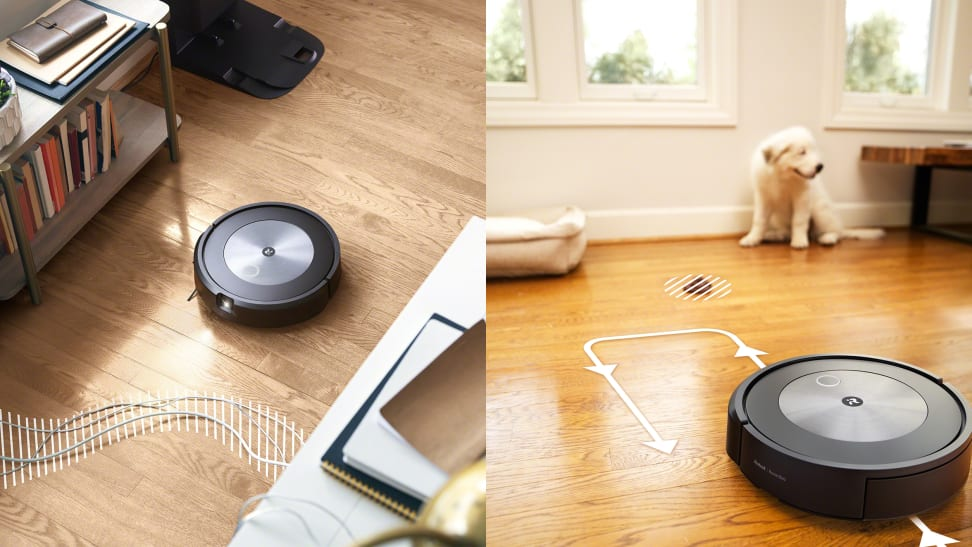 The iRobot Roomba j7+ avoiding power cables and animal droppings