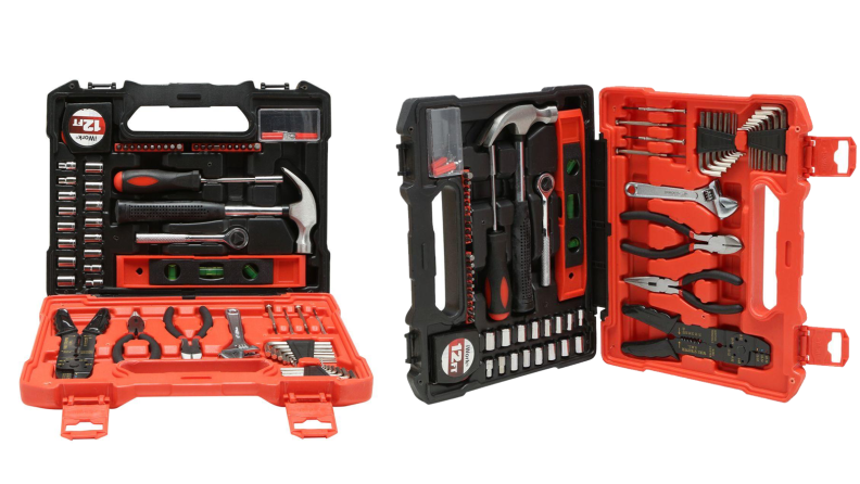 Two images of a tool set