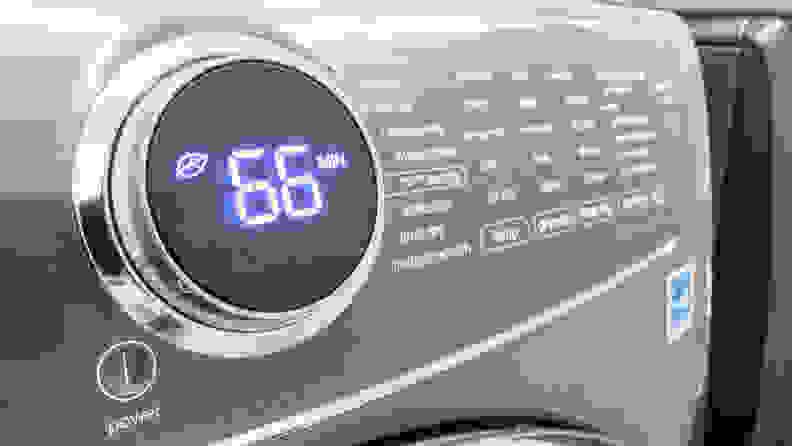 Dryer displaying time