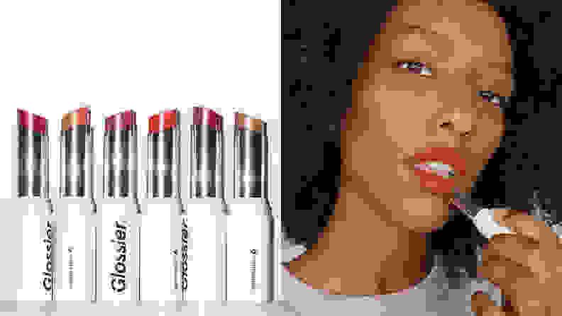 The Glossier Generation G Sheer Matte Lipstick.
