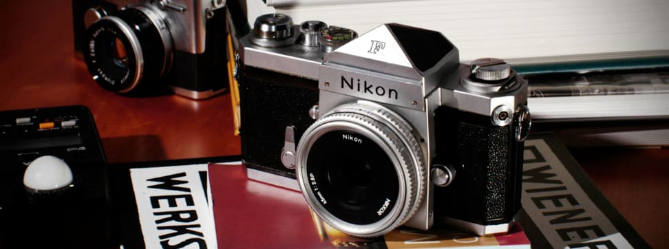 Here's a roundup of some retro cameras from Nikon, Canon, Contax, Pentax, Ilford, and even Polaroid