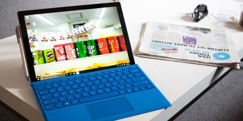 Surface Pro 4 in use