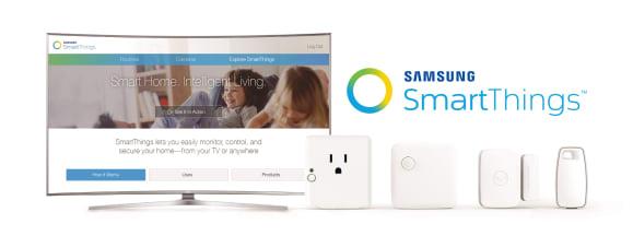 Samsung smartthings suhd tv hub hero