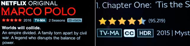 Netflix and Amazon Prime HDR Designations