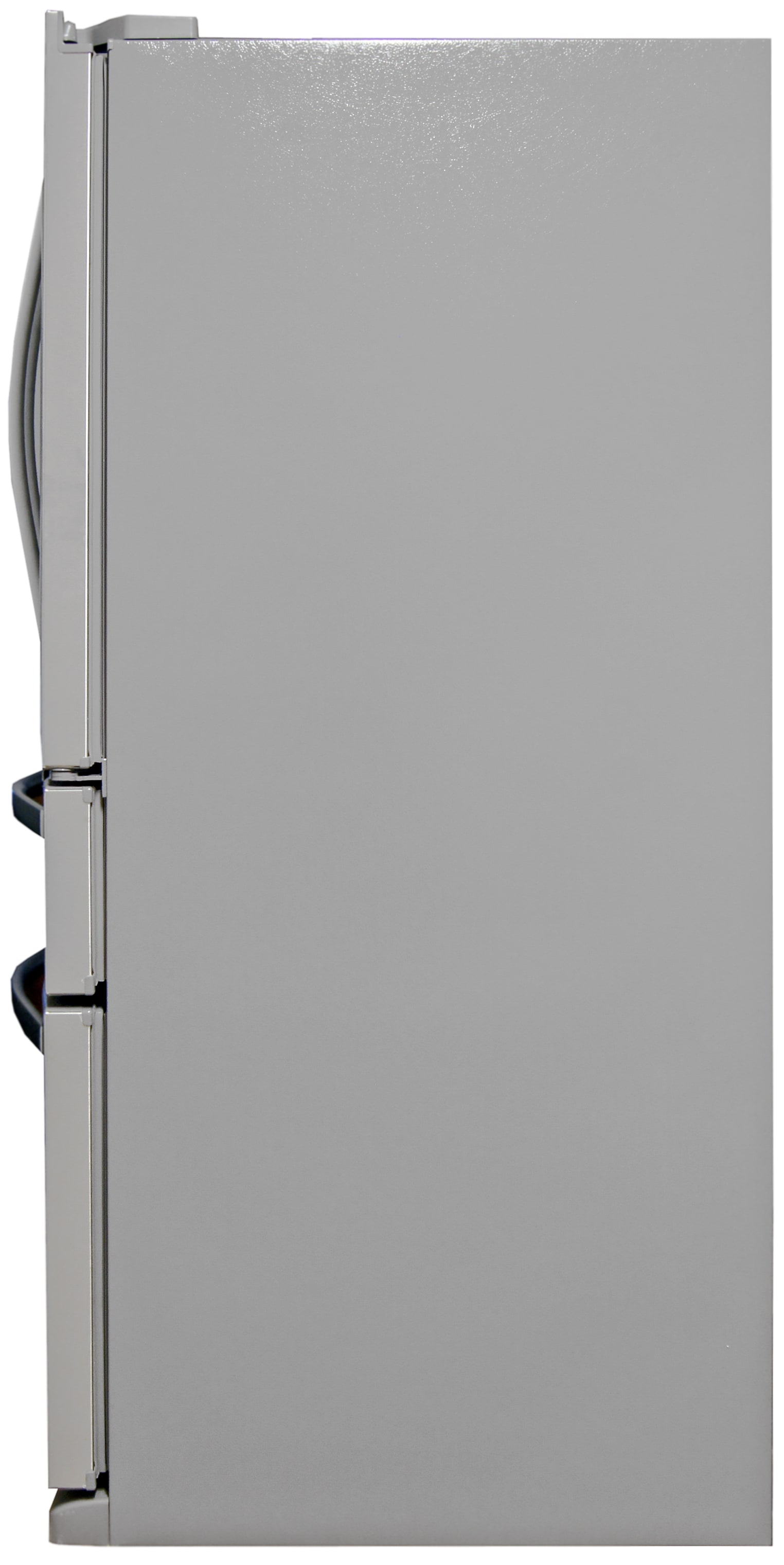 Grey sides are standard for stainless fridges.