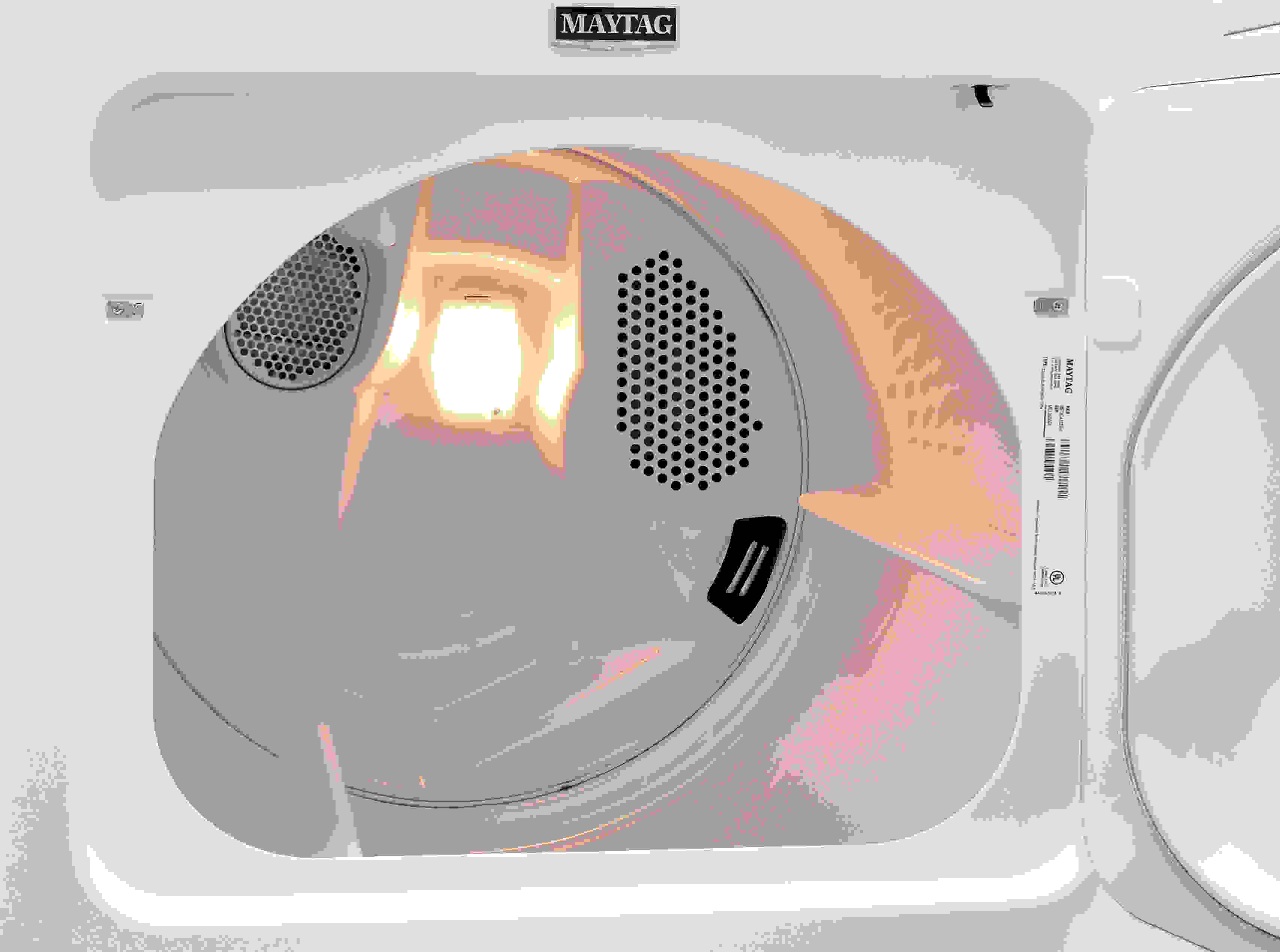 An interior light is always an unexpected surprise with budget dryers like the Maytag Centennial MEDC415EW.