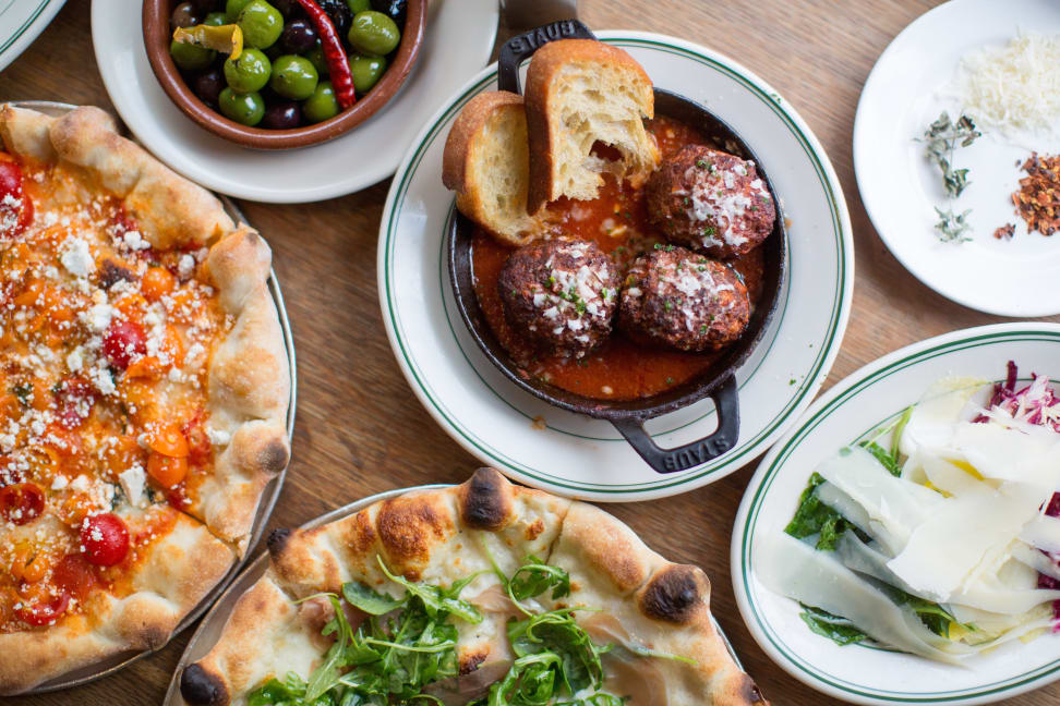Food from Delfina Pizzeria available through Postmates