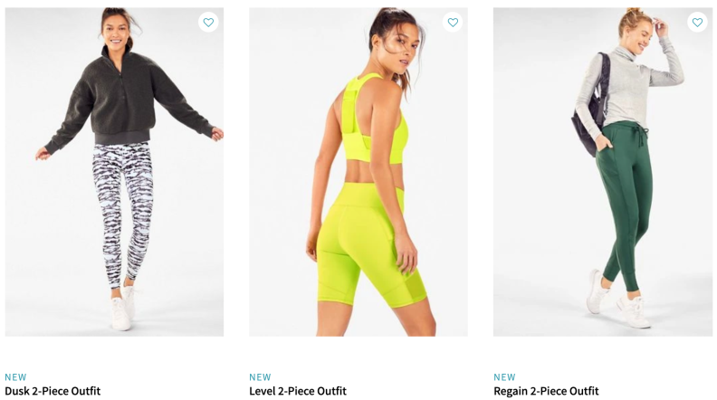 Fabletics curated outfits