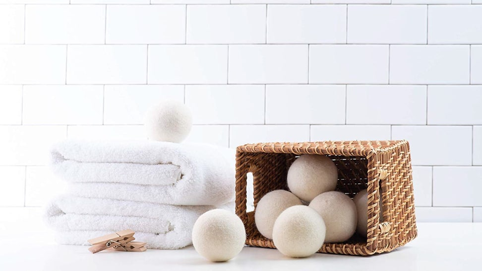 The Woolzie dryer balls promise shorter cycles and less wrinkles.