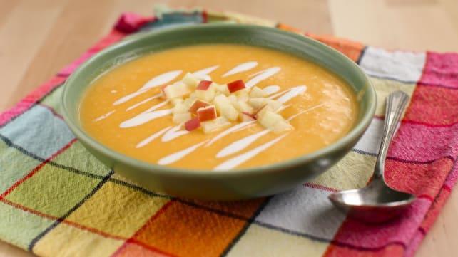 Sous vide squash soup