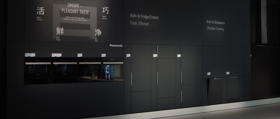 Wall of Panasonic built-in appliances at IFA 2015