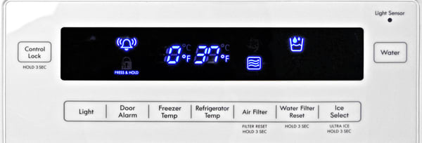 Kenmore 72372 Controls