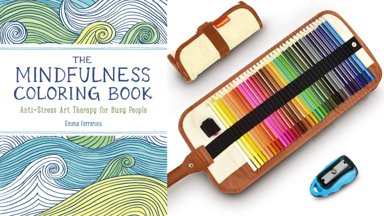 Coloring book (with pencils)