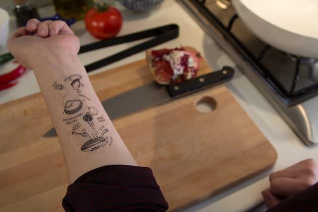 A typical I Tradizionali tattoo
