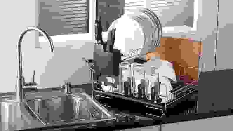 Premium Dish Rack Clean Dorm Essentials