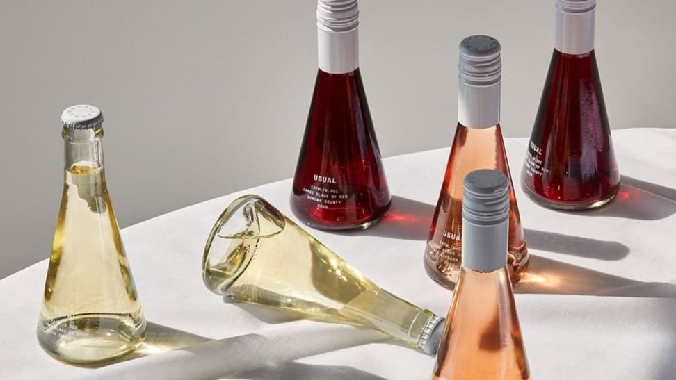 Choose from red, brut, or rosé when you order from Usual Wines, or get a mix of all three.