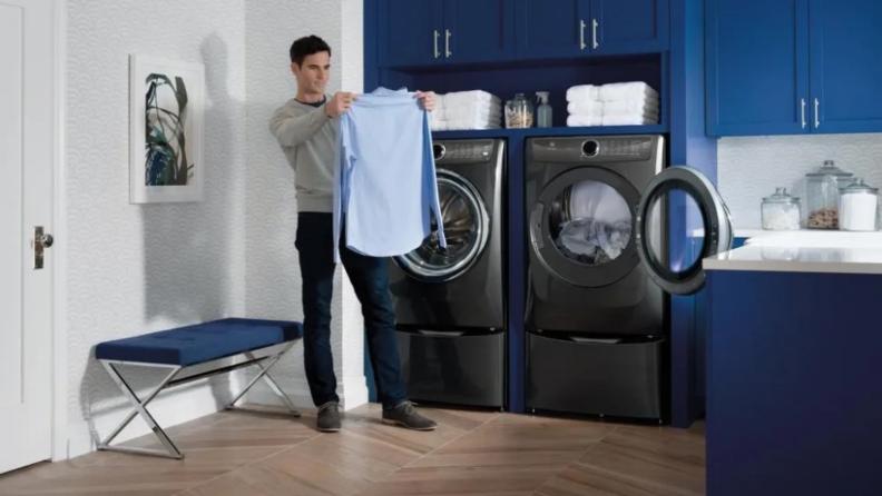 Man near dryer