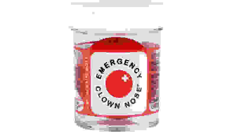 Clown nose in container