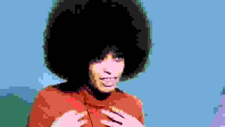 An image of Angela Davis from