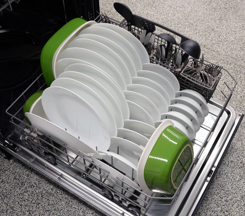 Kenmore Elite 14743 bottom rack capacity