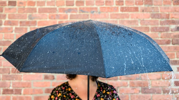 8c4eaae9b6706 This 'inverted' umbrella by Sharpty is a rainy day game-changer ...