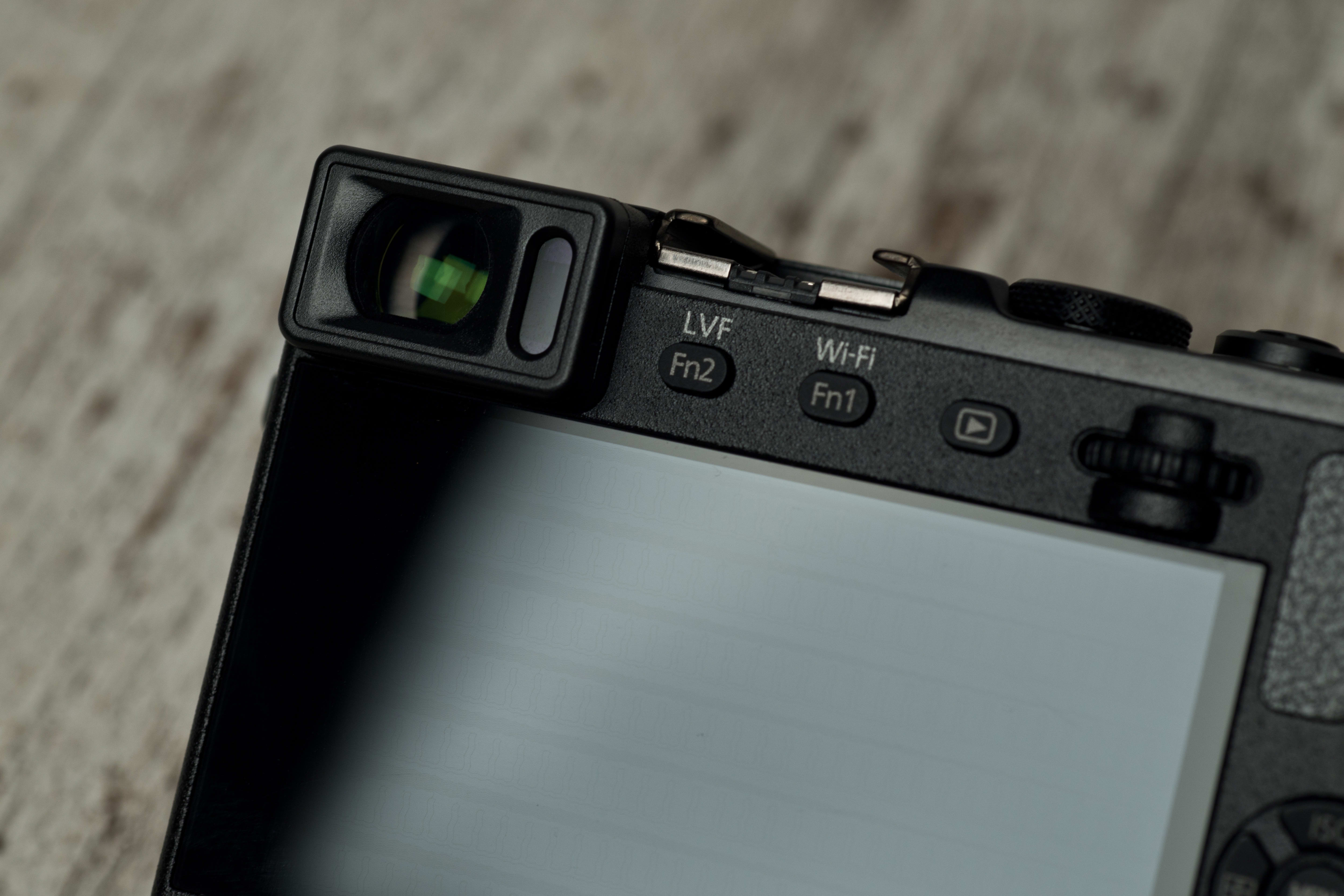 A photo of the Panasonic Lumix GM5's electronic viewfinder.