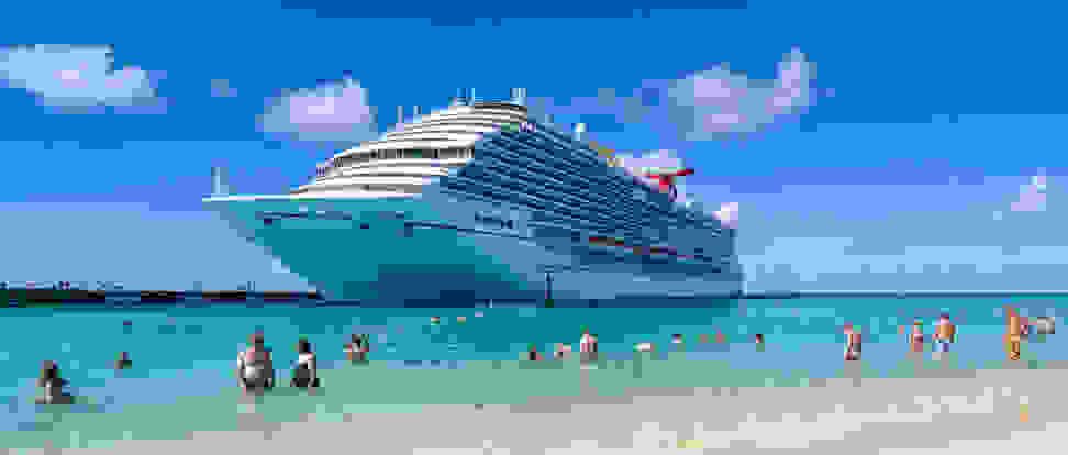 Carnival Cruise Lines Carnival breeze docks at Grand Turk